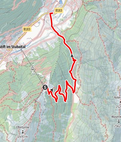 Mapa / Bergstation Elferbahn - Neder