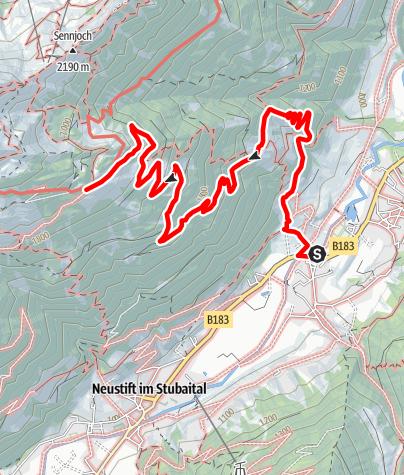 Karte / Kaserstattalm über Neder