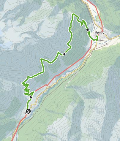 Karte / Brail - Alp Barlas-ch - Alp Munt - Zernez