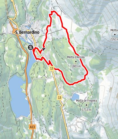 Map / Valle del Silenzio - Trail Running