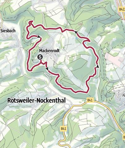 Karte / 1. Mai 2019: Genusswanderung mit Baumblütenfest rund um Mackenrodt