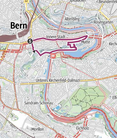 Map / Berner Altstadtour mit Standseilbahn