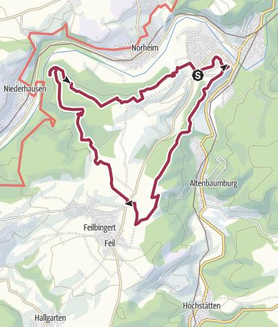 Karte / 20. Oktober 2019: Eröffnung Wandergebiet Ebernburg