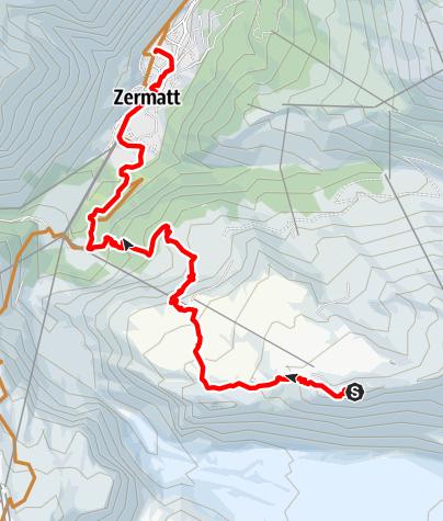Karte / Bike-Tour Gornergrat Classic (Nr. 1)
