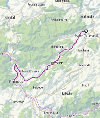 Map / SauerlandRadring für Familien - Von Eslohe nach Finnentrop