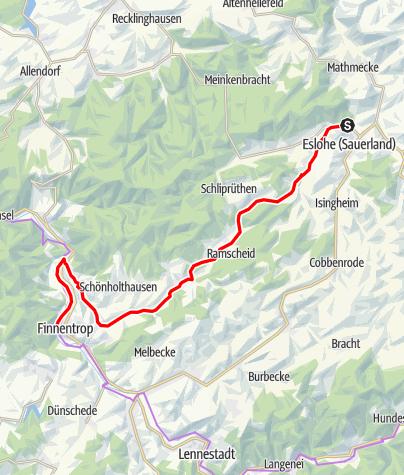 Karte / SauerlandRadring für Familien - Von Eslohe nach Finnentrop