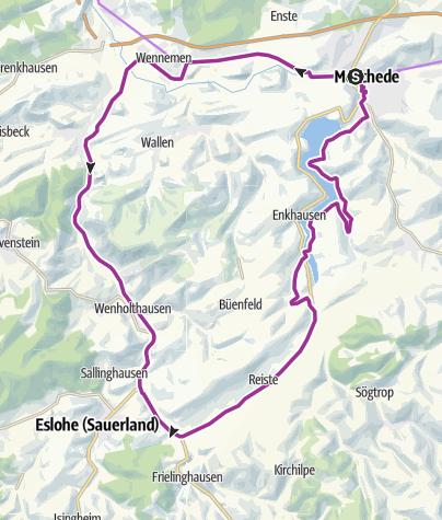 Karte / SauerlandRadring für Familien - die HenneseeSchleife