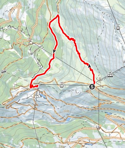Map / Blauherd-Sunnegga Bike Tour (Nr. 6)