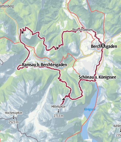 Karte /  24h Watzmann extrem   Wander-Festival