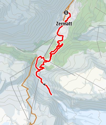 Carte / Itinéraire VTT du jardin du glacier (Nr. 24)