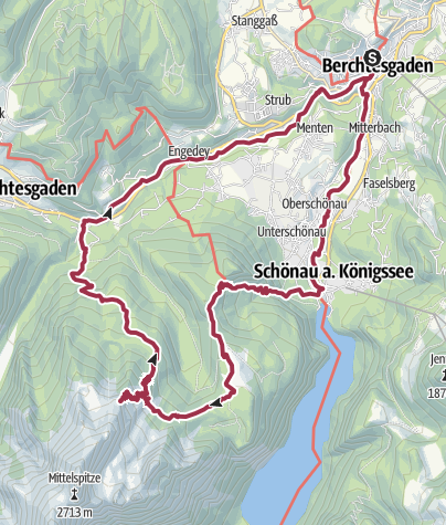 Karte / 12h Bergerlebnis Watzmann   Wander-Festival