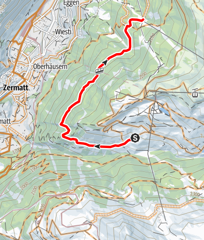 Map / Bike tour Oberer Höhenweg (Nr. 30)