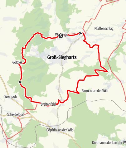 Térkép / Bandlkramer-Rundwanderweg