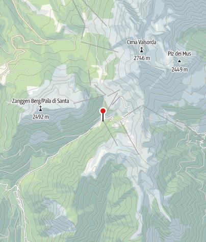 Cartina / AFFITTACAMERE LODGE SKI PAMPEAGO