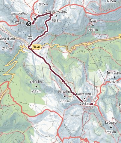 Karte / AV1 Segment G - Rifugio Lagazuoi to Rifugio Averau
