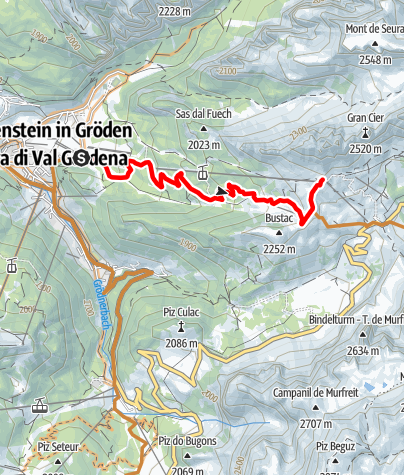 Map / The Passo Gardena circuit alternative