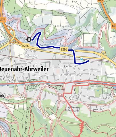 Karte / 14. Ahrtaler Gipfelfest: Hemmessener Hütte - Bahnhof Bad Neuenahr (2,2 km)