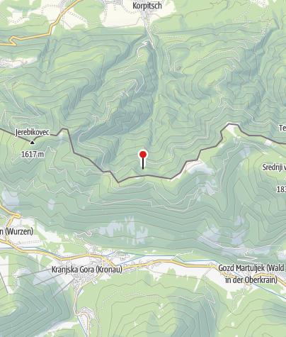 Karte / Korpitscher Alm - Grpiška pl. (1.540 m)