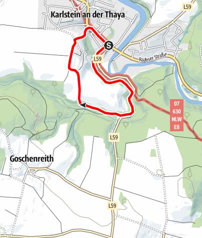 Map / Alte Poststraße - Karlstein