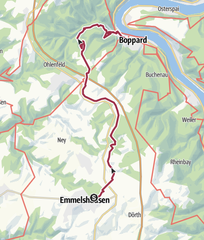 Karte / Hunsrückbahnwanderweg