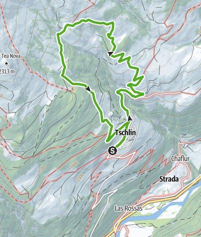 Map / Tschlin - Pruéra - Tschlin (Rundweg)