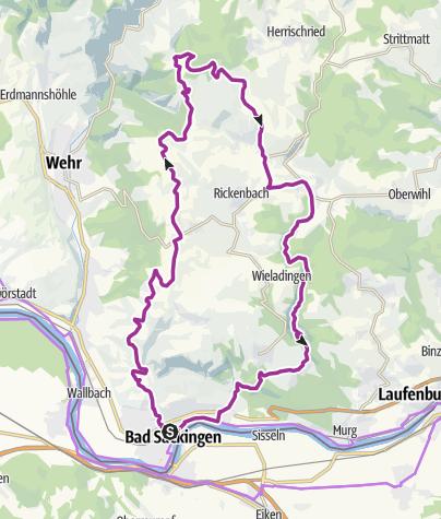 Karte / Bad Säckingen: Zum Hornbergbecken