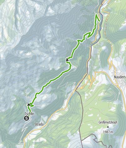 Karte / Tschlin - Vadrain - Vinadi