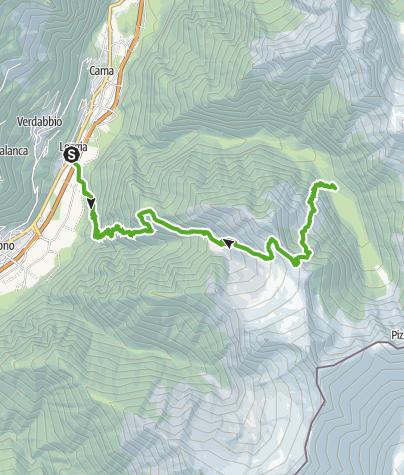 Cartina / Riserva Forestale Val Cama - Val Leggia
