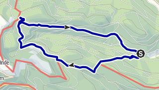 Karte / Wandern in Forbachs Süden II - Hundsbach, Biberkessel, Ochsenstall