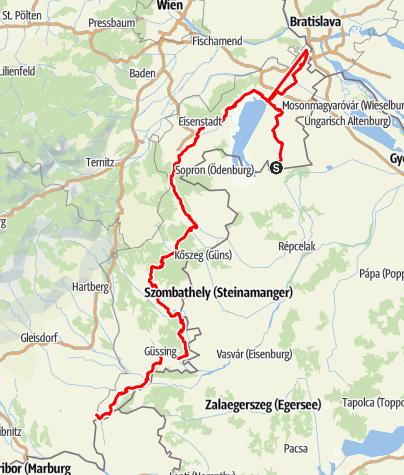 Karte / R1 Jubiläumsradweg