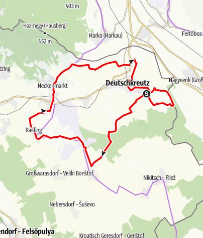 Karte / B40 Rotweinradweg