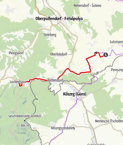 Karte / B45 Verbindungsradweg (B43-B41)