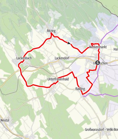Karte / B46 Lisztradwanderweg
