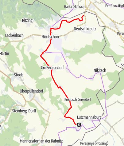 Karte / B47 Römische Bernsteinstraße Radwanderweg
