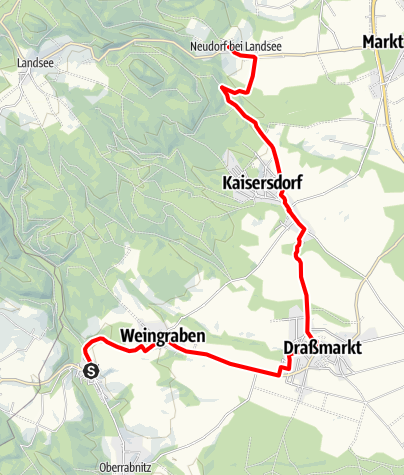 Karte / B49 Naturpark-Radwanderweg