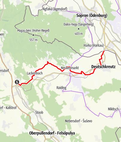 Karte / R62 Verbindungsradweg (R1-B10)