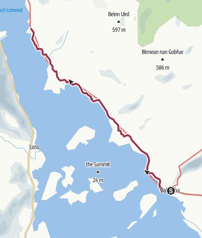 Map / Balmaha to Rowardennan Digital Delivery