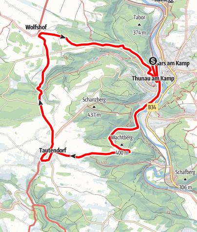 Mapa / Tautendorf-Rundweg