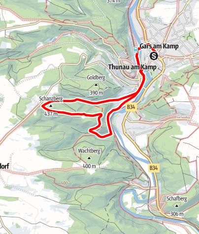 Mapa / Goldberg-Rundweg