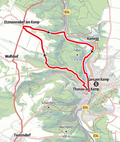 Karte / Etzmannsdorf-Rundweg