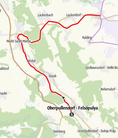 Karte / Sonnenland Draisinentour