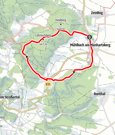Karte / Rundwanderweg Mühlbach