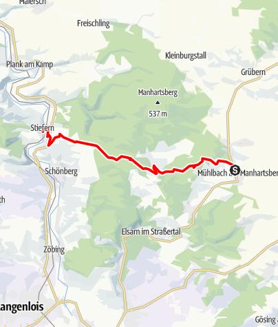Karte / Joseph Misson-Wanderweg Mühlbach - Stiefern