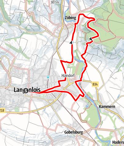 """Mapa / Kamptalwarte am Heiligenstein """"Wein- und Wasserrunde"""""""