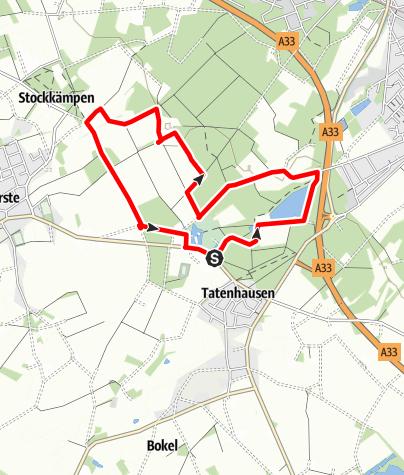 Karte / Rund ums Wasserschloss | Rundwanderweg in Halle (Westf.)