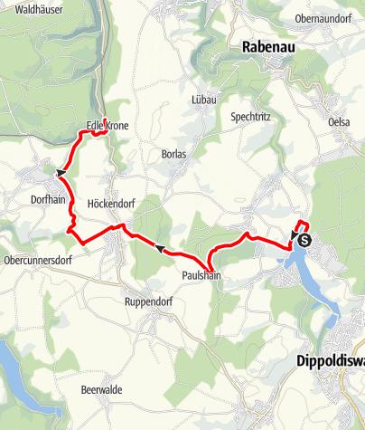 Karte / Von der Talsperre Malter nach Edle Krone