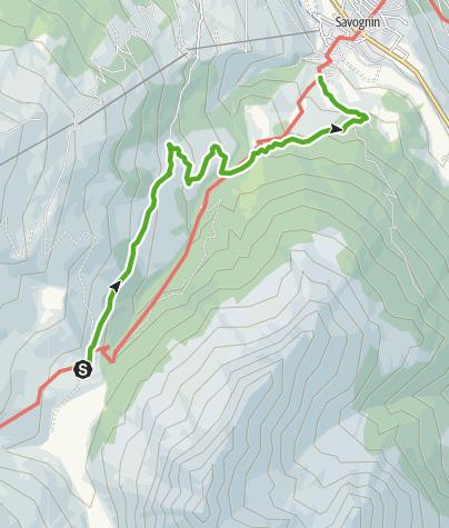 Map / Radons - Tigia - Parnoz - Savognin