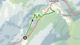 Karte / Radons - Tigia - Parnoz - Savognin