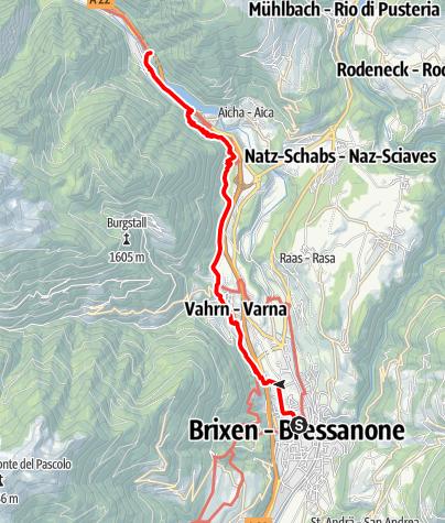 Karte / Geschichtsparcours von Brixen nach Franzensfeste