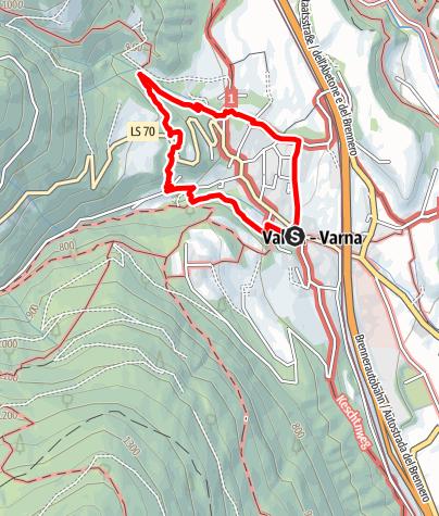Map / The Carl-Toldt-Weg Trail in Vahrn near Brixen
